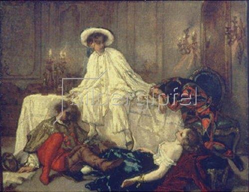 Thomas Couture: Nach dem Maskenball. 1850-er Jahre.