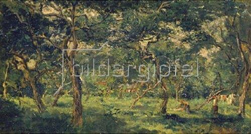 Charles-François Daubigny: Olivenhain. Frühe 1870-er Jahre.