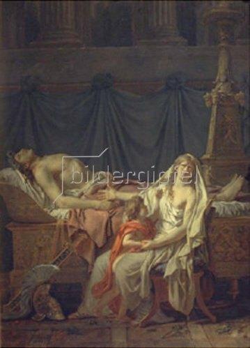 Jacques Louis David: Andromache betrauert Hektor. 1783.