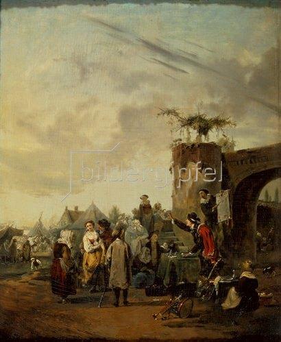 Philibert-Louis Debucourt: Der Scharlatan. Frühe 1780-er Jahre.