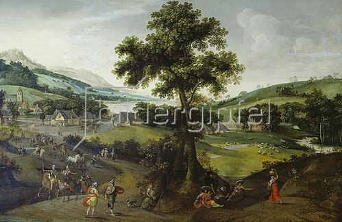 Jakob Grimmer: Landschaft mit Staffage. 1575.