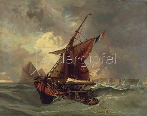 Eugene Delacroix: Segler in schwerer See.