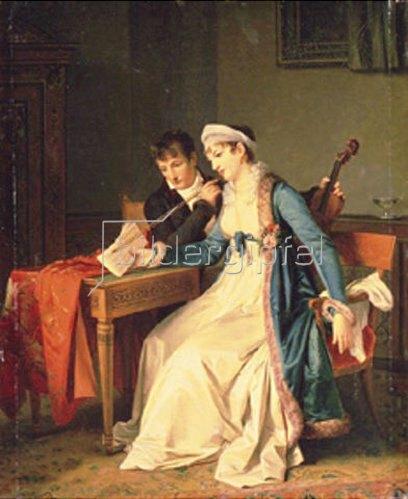 Marguerite Gérard: Musikalische Szene.