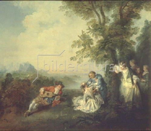 Nicolas Lancret: Hochzeitsgesellschaft am Rand eines Waldes. 1720-er Jahre.