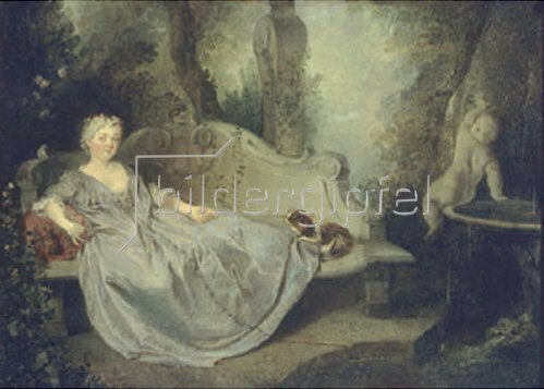 Nicolas Lancret: Damenbildnis in einem Park.