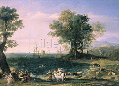 Claude Lorrain (Gellée): Der Raub der Europa. 1655