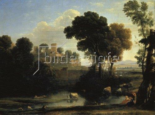 Claude Lorrain (Gellée): Italienische Landschaft.