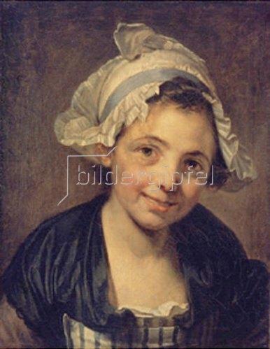 Jean Baptiste Greuze: Junge Frau mit Haube. 1760-er Jahre.