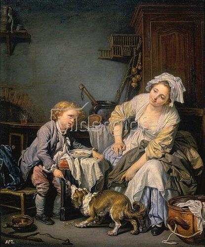 Jean Baptiste Greuze: Das verwöhnte Kind. 1765.