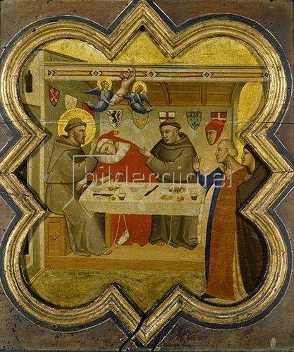 Taddeo Gaddi: Der Tod des Edlen von Celano. Gegen 1340