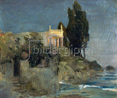 Arnold Böcklin: Villa am Meer. Skizze. 1863.
