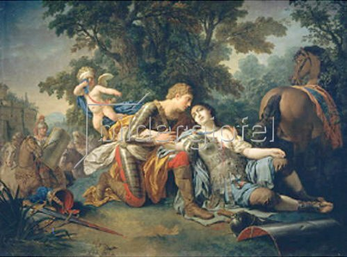 Louis François Lagrenée: Tankred und Corinde. 1761.