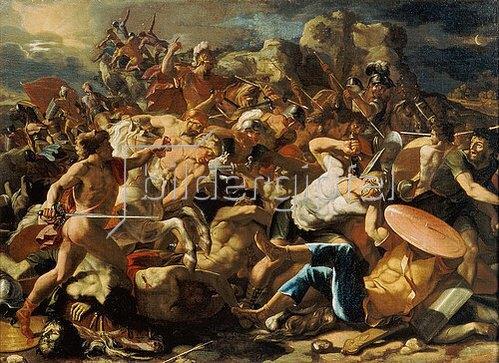 Nicolas Poussin: Der Sieg des Joshua über die Amoriter. 1625/26