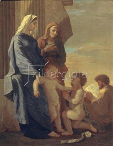 Nicolas Poussin: Die Heilige Familie.