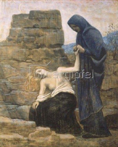 Pierre Puvis de Chavannes: Das Mitleid. 1887.