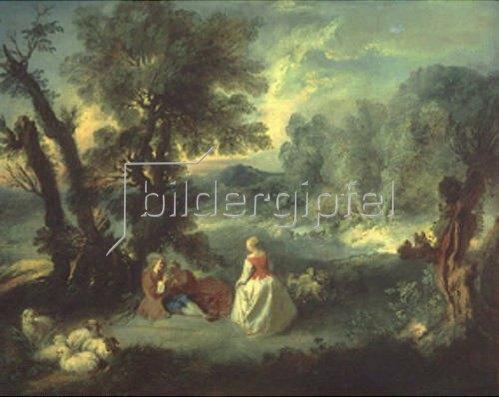 Pierre Antoine Quillard: Schäferszene. 1730-er Jahre.