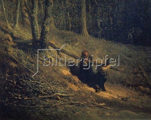 Jean-Francois I Millet: Holzsammler (Les Charbonnieres). 1860-er Jahre.