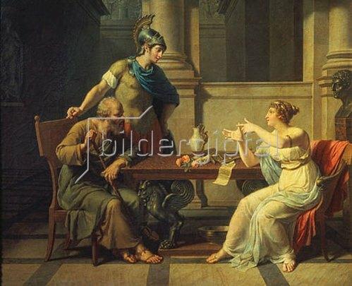 Nicolas André Monsiau: Sokrates besucht Aspasia. 1801.