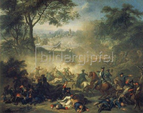 Jean Marc Nattier: Die Schlacht von Lesnaja. 1717