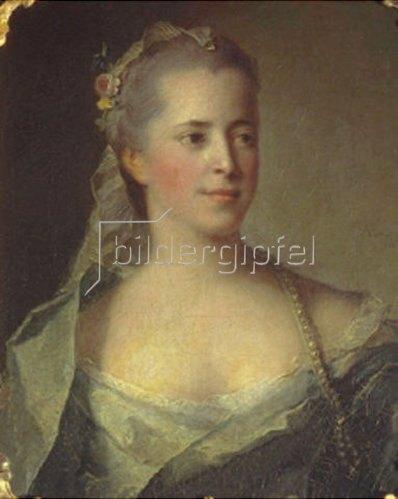 Jean Marc Nattier: Bildnis einer jungen Frau. 1757.