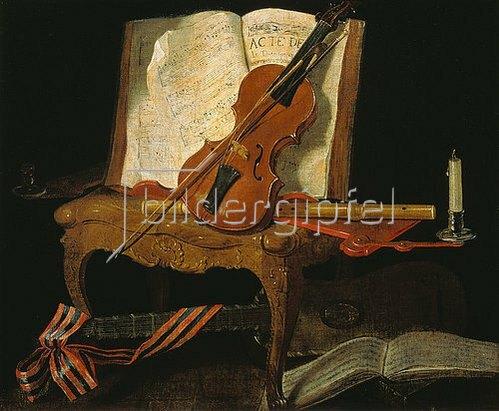 Jean-Baptiste Oudry: Stillleben mit Violine.
