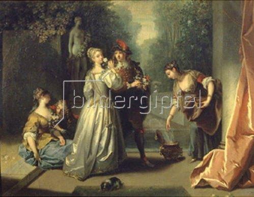 Jean Raoux: Der Geruch (aus der Serie Die fünf Sinne.) 1720/1730.