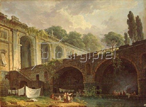 Hubert Robert: Die Villa Madama bei Rom. 1760-er Jahre.