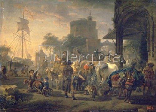 Jacques François J Swebach: Pferdemarkt. 1805.