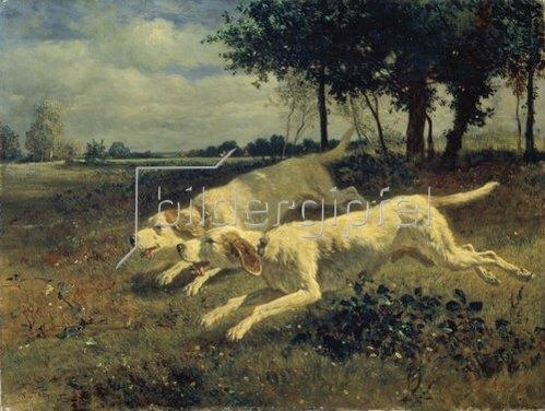 Constant Troyon: Laufende Hunde. 1853
