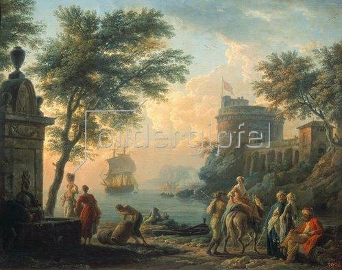 Claude Joseph Vernet: Abendstille am Hafen. Um 1763