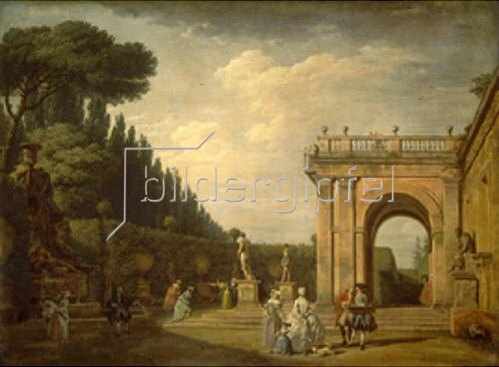 Claude Joseph Vernet: Im Park der Villa Ludovici in Rom. 1749.