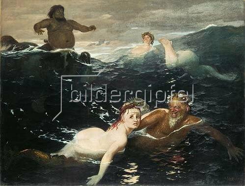 Arnold Böcklin: Im Spiel der Wellen. 1883.