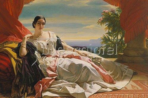 Franz Xaver Winterhalter: Leonilla Fürstin zu Sayn-Wittgenstein-Sayn. 1843
