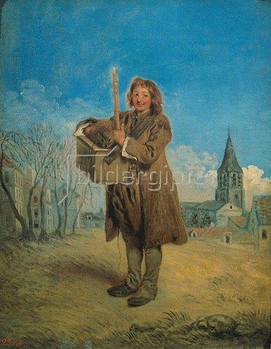 Jean Antoine Watteau: Ein Savojarde mit Murmeltier. 1716.