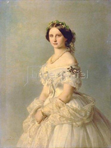 Franz Xaver Winterhalter: Bildnis der Prinzessin von Baden. 1856.