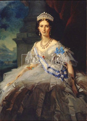 Franz Xaver Winterhalter: Bildnis der Prinzessin T. A. Jussupov. 1858.