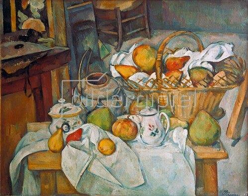 Paul Cézanne: Stilleben mit Obstkorb. 1888/90