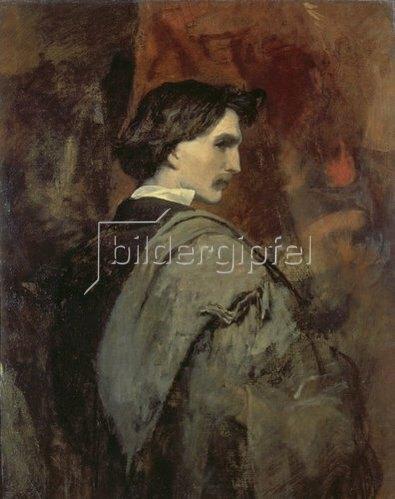 Anselm Feuerbach: Selbstbildnis. 1854/58