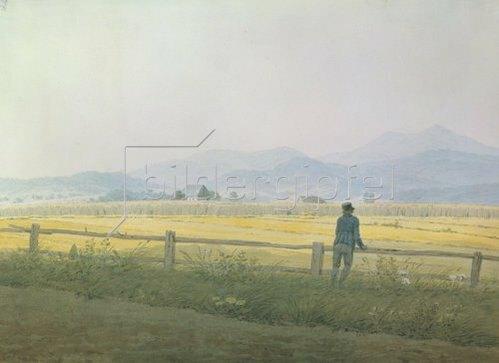 Caspar David Friedrich: Landschaft mit betrachtendem Wanderer.