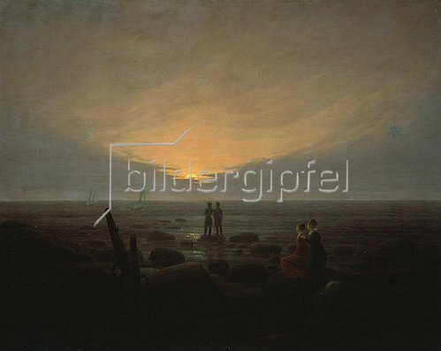 Caspar David Friedrich: Mondaufgang über dem Meer. 1821