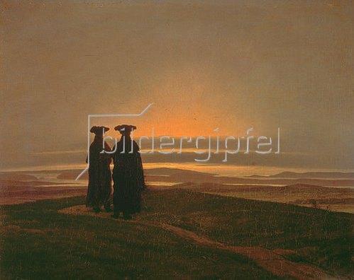 Caspar David Friedrich: Sonnenuntergang (Die Brüder).