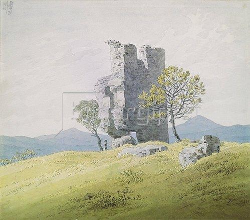 Caspar David Friedrich: Die Ruine von Schloss Teplitz. Um 1828