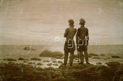 Caspar David Friedrich: Zwei Männer am Strand.