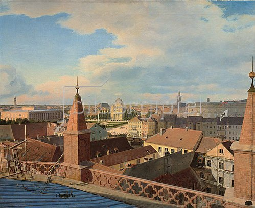 Johann Philipp Eduard Gaertner: Blick über Berlin.