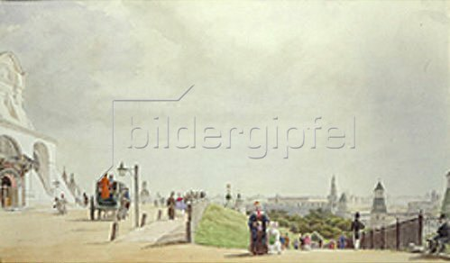 Johann Philipp Eduard Gaertner: Im Moskauer Kreml. 1839.