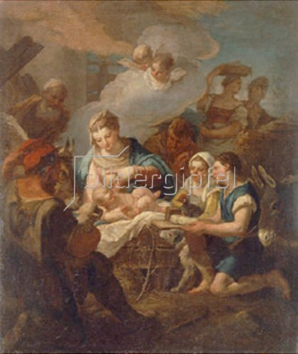 Nicola Grassi: Die Anbetung des Christkindes.