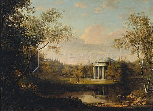 Gerhard Franz von Kügelgen: Ansicht des Freundschafts-Palastes im Pavlovsker Park. Um 1800.