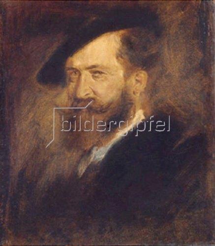 Franz von Lenbach: Bildnis Wilhelm Busch (1832-1908). 1877/1880