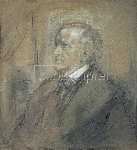 Franz von Lenbach: Bildnis Richard Wagner. 1868