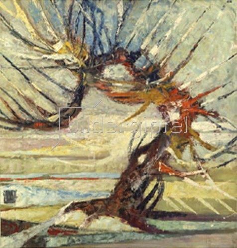 Otto Mueller: Ein Baum.
